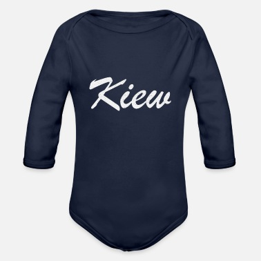 Ukraine Kiew Ukraine - Organic Long-Sleeved Baby Bodysuit