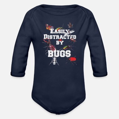 Wholetrain Bugs and Insect Shirt for Anyone who Loves Bugs an - Organic Long-Sleeved Baby Bodysuit