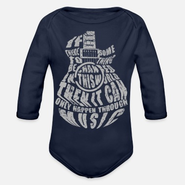 MUSIC Doesn t lie QUOTES - Organic Long-Sleeved Baby Bodysuit
