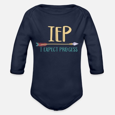 I Expect Progress IEP I Expect Progress Teacher - Organic Long-Sleeved Baby Bodysuit