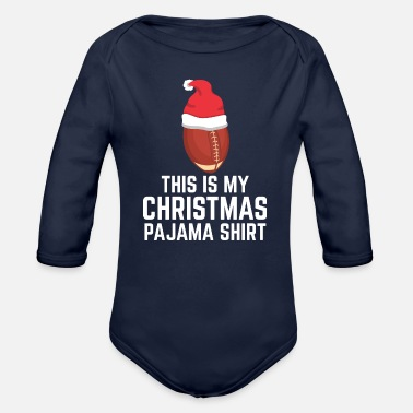 Snowman My Christmas Pajama Shirt Holiday Rugby Gift - Organic Long-Sleeved Baby Bodysuit