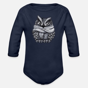Organic Long-Sleeved Baby Bodysuit