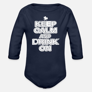 Drinking Contest DRINK ON - Organic Long-Sleeved Baby Bodysuit