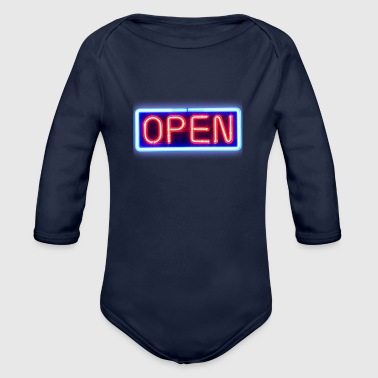 Open - Organic Long Sleeve Baby Bodysuit