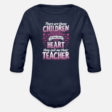 Teacher Valentines Day Shirt - Organic Long Sleeve Baby Bodysuit