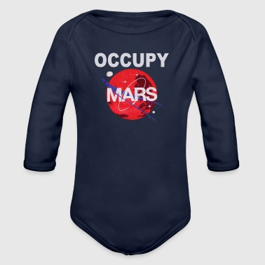 OCCUPY MARS - Organic Long Sleeve Baby Bodysuit