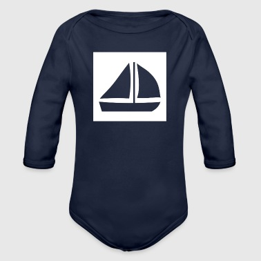 Sail Boat with two sails - Organic Long Sleeve Baby Bodysuit