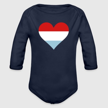 A Heart For Holland - Organic Long Sleeve Baby Bodysuit
