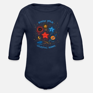 Celestial Bodies Know Your Celestial Bodies - Organic Long Sleeve Baby Bodysuit