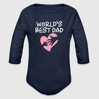 Best Father Best Father Of The World - Organic Long Sleeve Baby Bodysuit