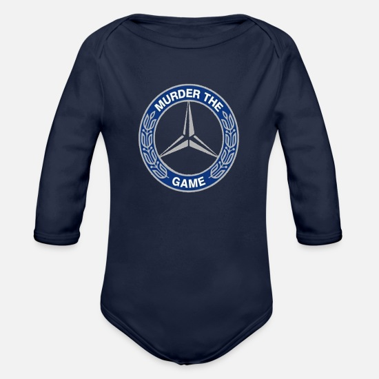 Mercedes Baby Clothing - Solehouette Murder The Game - Organic Long-Sleeved Baby Bodysuit dark navy