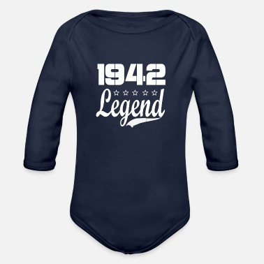 Legend 42 legend - Organic Long Sleeve Baby Bodysuit