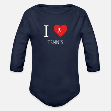 I Love Tennis I Love TENNIS - Organic Long Sleeve Baby Bodysuit