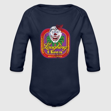 Liquor Laughing Clown Malt Liquor - Organic Long Sleeve Baby Bodysuit