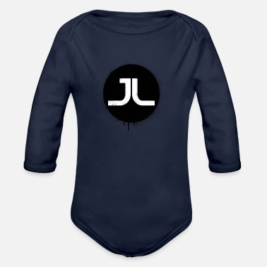 Paint Splatter JL BLACK PAINT SPLATTER - Organic Long Sleeve Baby Bodysuit