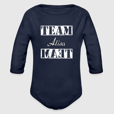 Team Alisa - Organic Long Sleeve Baby Bodysuit