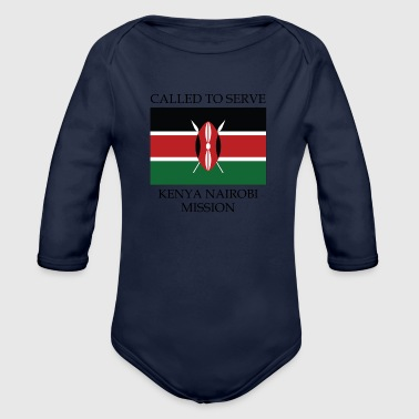Kenya Nairobi LDS Mission Called to Serve Flag - Organic Long Sleeve Baby Bodysuit
