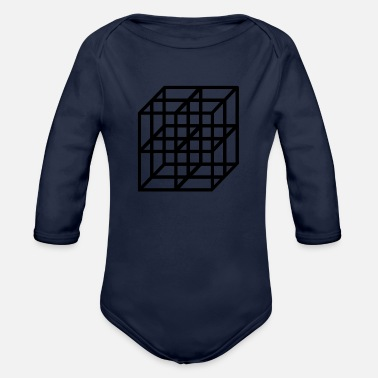 Cubes cubes - Organic Long-Sleeved Baby Bodysuit