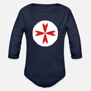 Knights Of St John St. John Ambulance 2-color - Organic Long-Sleeved Baby Bodysuit