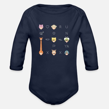 Korean Running Man Food Chain - Organic Long-Sleeved Baby Bodysuit