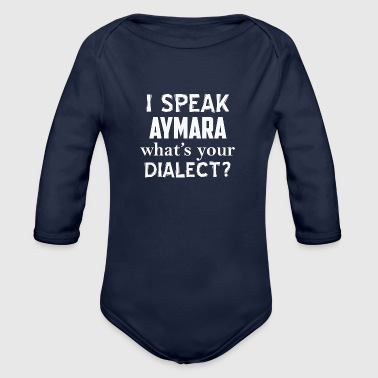AYMARA dialect - Organic Long Sleeve Baby Bodysuit
