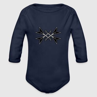 metal music - Organic Long Sleeve Baby Bodysuit