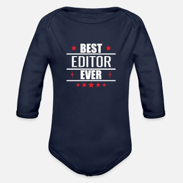 Editor Best Editor Ever - Organic Long-Sleeved Baby Bodysuit