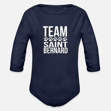 Team Saint Bernard Team Saint Bernard - Organic Long-Sleeved Baby Bodysuit