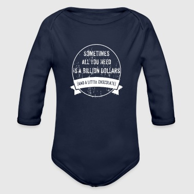 To Be Rich - Organic Long Sleeve Baby Bodysuit