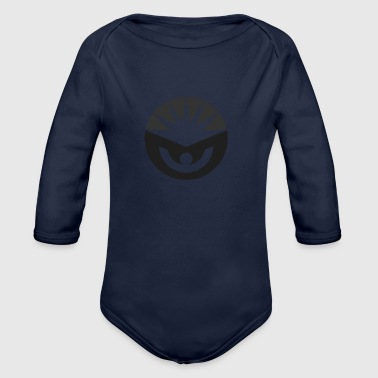 grey - Organic Long Sleeve Baby Bodysuit
