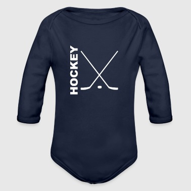 Hockey Sticks - Organic Long Sleeve Baby Bodysuit