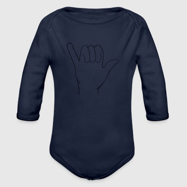 Hand Sign Hand sign - Organic Long Sleeve Baby Bodysuit