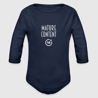 Mature content - Organic Long Sleeve Baby Bodysuit