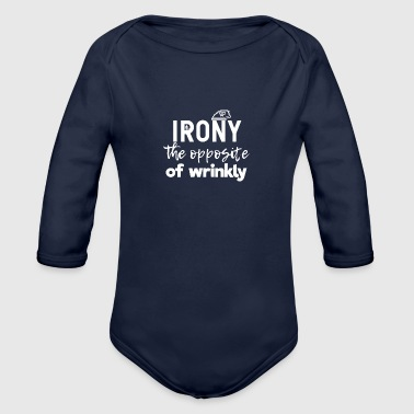 Irony - Organic Long Sleeve Baby Bodysuit