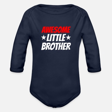 Little Awesome Little Brother - Organic Long Sleeve Baby Bodysuit