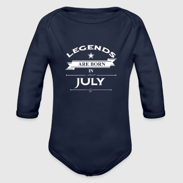 July - Organic Long Sleeve Baby Bodysuit