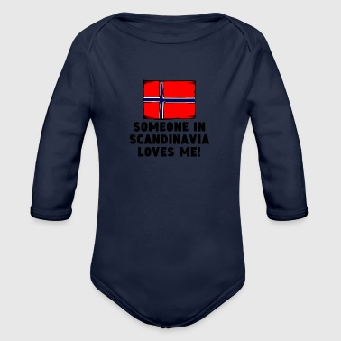 Someone In Scandinavia Loves Me! - Organic Long Sleeve Baby Bodysuit