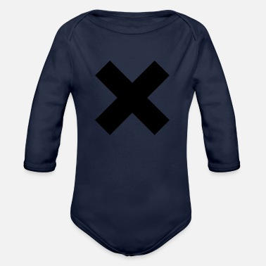 Mark Something The X mark - Organic Long Sleeve Baby Bodysuit