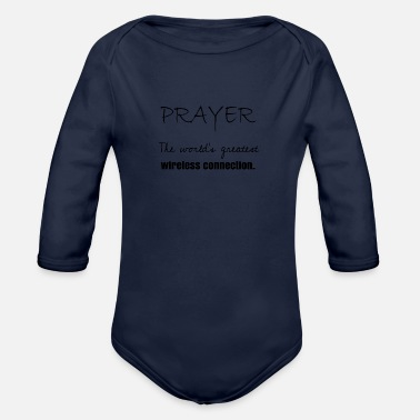 Prayer Prayer - Organic Long-Sleeved Baby Bodysuit