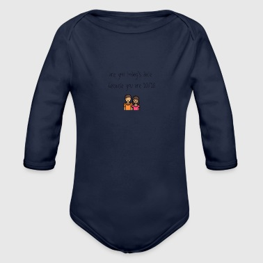 Today's date - Organic Long Sleeve Baby Bodysuit