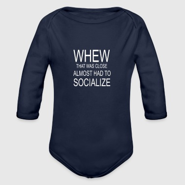 Socialize - Organic Long Sleeve Baby Bodysuit