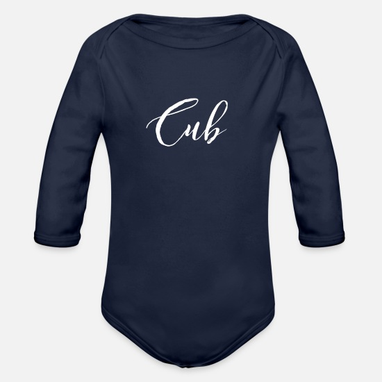 Cubs Baby Clothing - Cub - Organic Long-Sleeved Baby Bodysuit dark navy