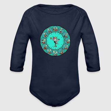 ganesha mythology - Organic Long Sleeve Baby Bodysuit