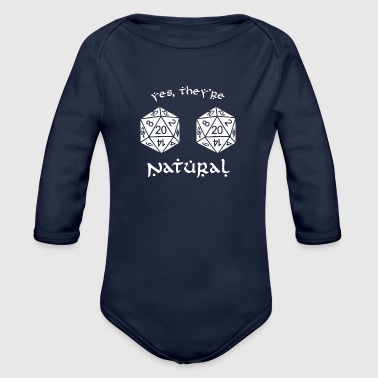 D20 - Dungeon and Dragons - Organic Long Sleeve Baby Bodysuit