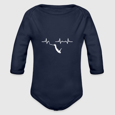 Heartbeats Bungee Jumping Recreational Sports - Organic Long Sleeve Baby Bodysuit