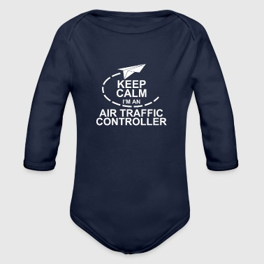 air traffic controller - Organic Long Sleeve Baby Bodysuit
