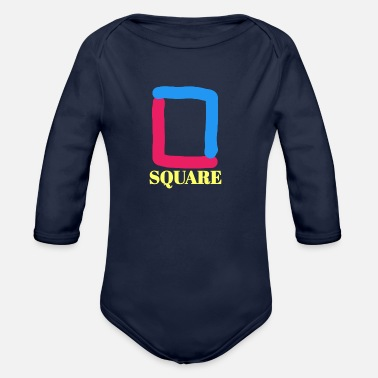 Square Square - Organic Long-Sleeved Baby Bodysuit