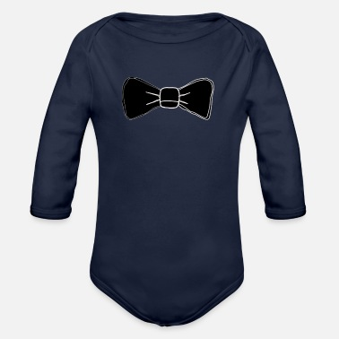 Bowties Bowtie - Organic Long-Sleeved Baby Bodysuit