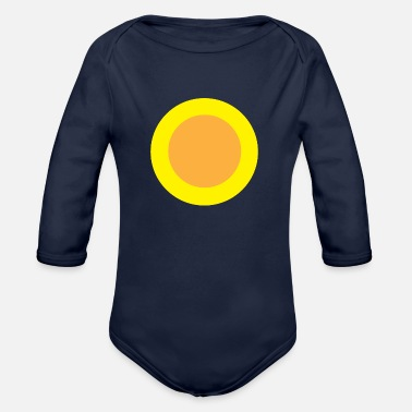 Circle Circle Circle - Organic Long-Sleeved Baby Bodysuit