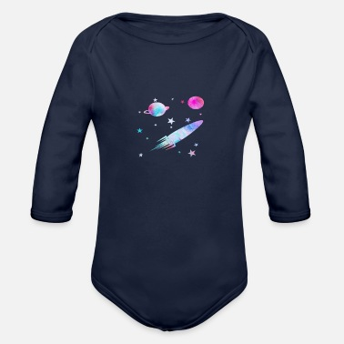 Planet planet - Organic Long Sleeve Baby Bodysuit